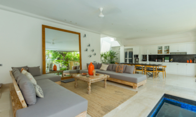 Living, Kitchen and Dining Area - Villa Bianca Canggu - Canggu , Bali