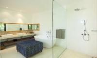 His and Hers Bathroom with Shower - Villa CassaMia - Jimbaran, Bali