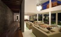 Living Area with View at Night - Villa CassaMia - Jimbaran, Bali