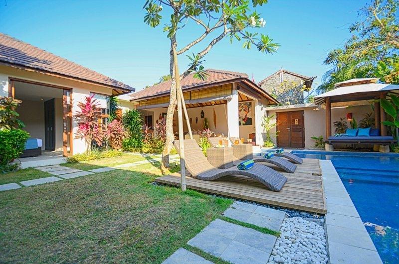 Pool Side Loungers - Villa Chezami - Legian, Bali