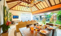 Dining Area with Garden View - Villa Chezami - Legian, Bali