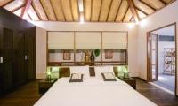 Bedroom with Wooden Floor - Villa Chezami - Legian, Bali