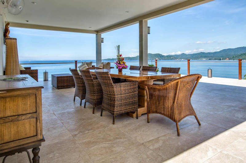 Dining Area with Sea View - Villa Gumamela - Candidasa, Bali