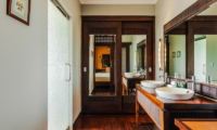 Bathroom with Wooden Floor - Villa Impian Manis- Uluwatu, Bali