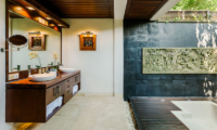 His and Hers Bathroom with Bathtub - Villa Impian Manis- Uluwatu, Bali