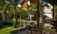 Pool Side Dining - Villa Niri - Seminyak, Bali