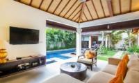 Living Area with TV - Villa Sepuluh - Legian, Bali