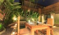 Pool Side Dining - Villa Seriska Dua Seminyak - Seminyak, Bali