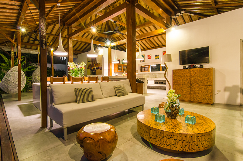 Living Area with TV - Villa Sukacita - Seminyak, Bali
