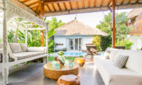Lounge Area with Pool View - Villa Sukacita - Seminyak, Bali
