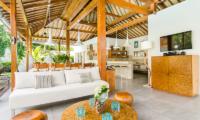 Living and Dining Area with TV - Villa Sukacita - Seminyak, Bali