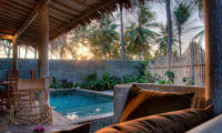 Pool Side Seating Area - Les Villas Ottalia Gili Trawangan - Gili Trawangan, Lombok