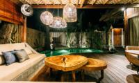 Pool Side Seating Area - Majo Private Villas - Gili Trawangan, Lombok