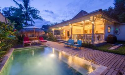 Pool at Night - Scallywags Joglo - Gili Air, Lombok
