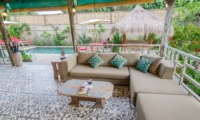 Living Area with Pool View - Scallywags Joglo - Gili Air, Lombok