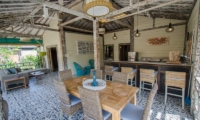 Living, Kitchen and Dining Area - Scallywags Joglo - Gili Air, Lombok