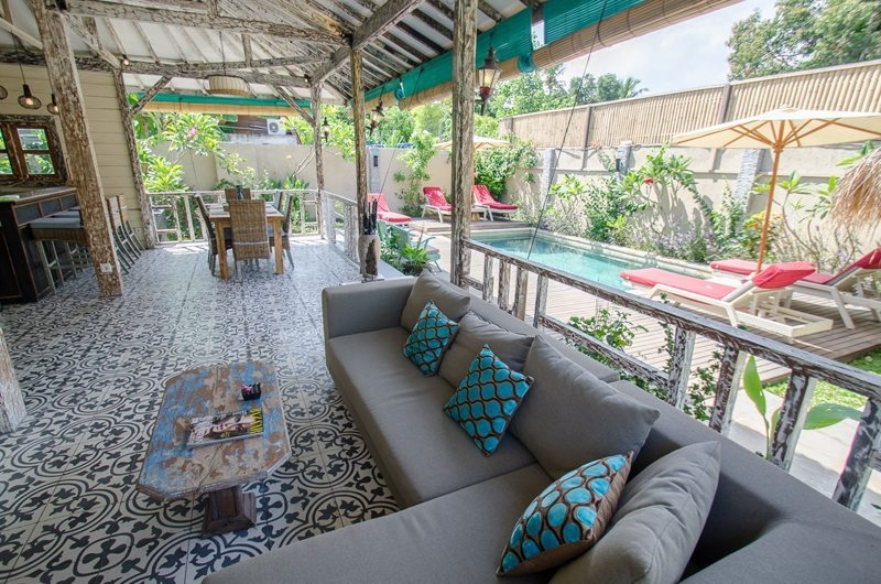 Living and Dining Area - Scallywags Joglo - Gili Air, Lombok
