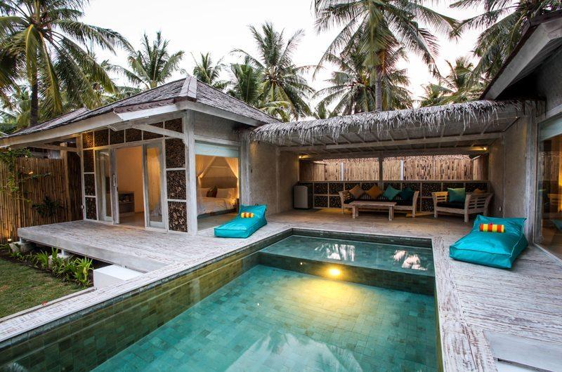 Pool Side Seating Area - Sunset Palms Resort - Gili Trawangan, Lombok
