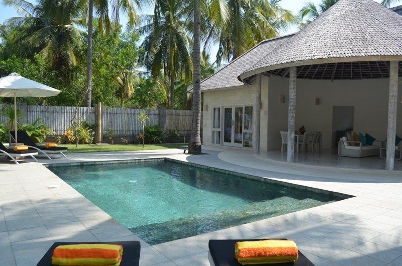 Gardens and Pool - Sunset Palms Resort - Gili Trawangan, Lombok