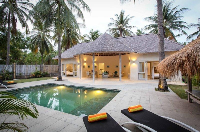 Pool Side Loungers - Sunset Palms Resort - Gili Trawangan, Lombok