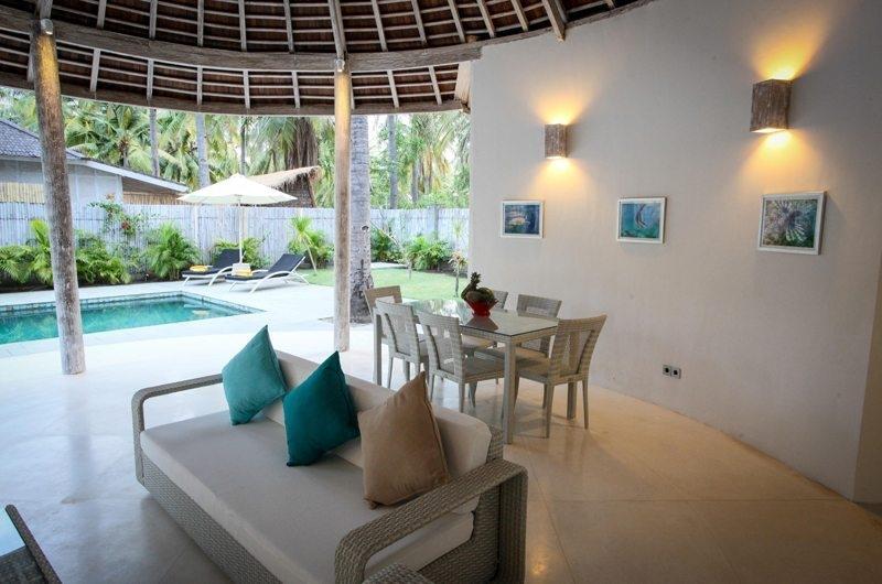 Living and Dining Area - Sunset Palms Resort - Gili Trawangan, Lombok