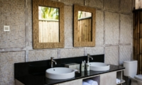 His and Hers Bathroom - Sunset Palms Resort - Gili Trawangan, Lombok