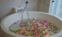 Bathtub with Petals - The Jiwa - Lombok, Indonesia