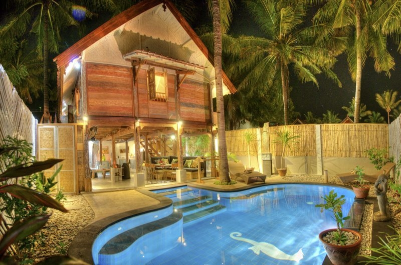 Pool at Night - Villa Sama Lama - Gili Trawangan, Lombok