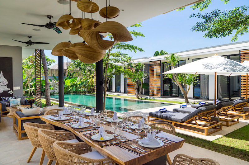 Dining Area with Pool View - Canggu Beachside Villas - Canggu, Bali