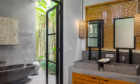 His and Hers Bathroom with Bathtub - Canggu Beachside Villas - Canggu, Bali