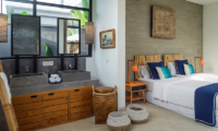Twin Bedroom and Bathroom - Villa Boa - Canggu, Bali