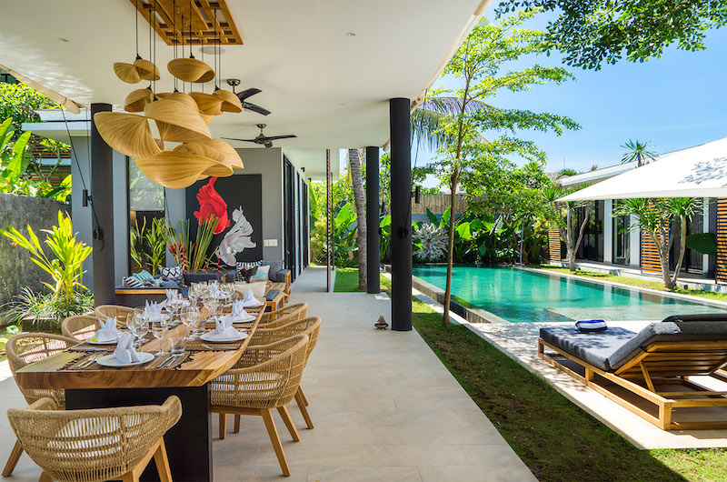 Dining Area with Pool View - Villa Vida - Canggu, Bali
