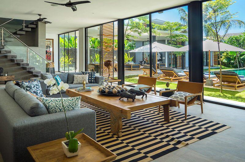 Living Area with Pool View - Villa Vida - Canggu, Bali