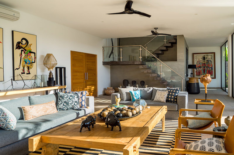 Living Area with Up Stairs - Villa Vida - Canggu, Bali