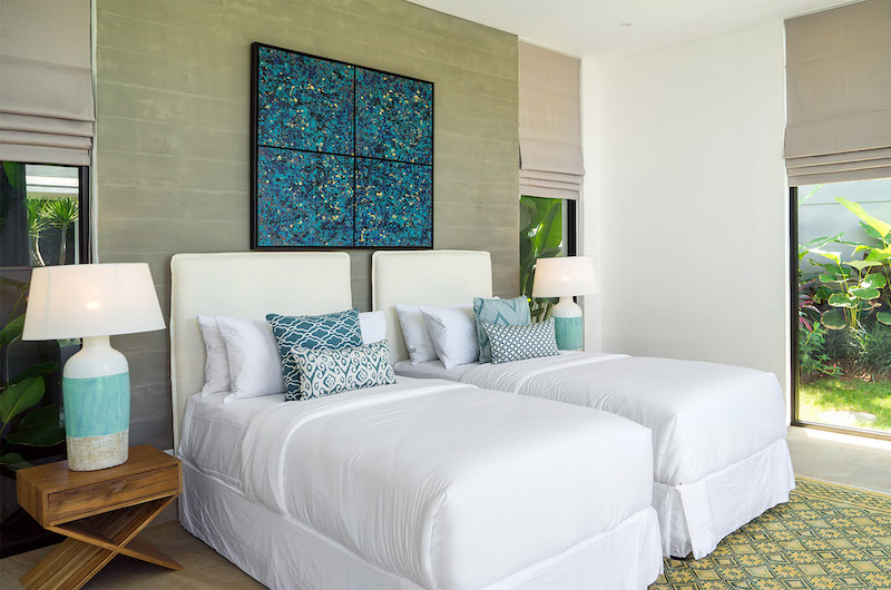 Bedroom with Twin Beds - Canggu Beachside Villas - Canggu, Bali