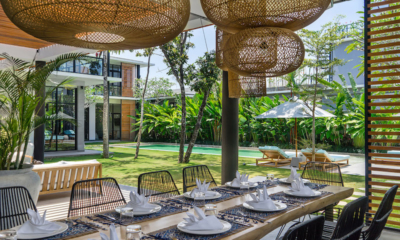 Dining Area with Pool View - Villa Gu - Canggu, Bali