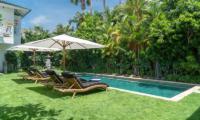 Pool Side Loungers - Villa Iluka - Seminyak, Bali