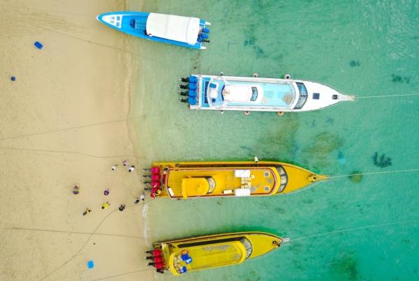 Aerial Boat | Nusa Lembongan, Indonesia