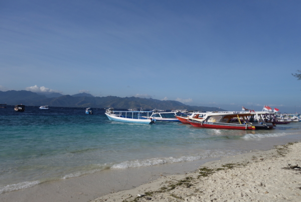 Lombok Beach Boats
